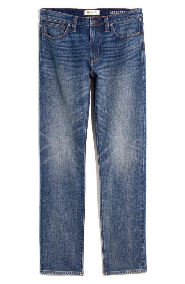 Men's Madewell Athletic Slim Authentic Flex Jeans, Size 28 x 32 - Blue