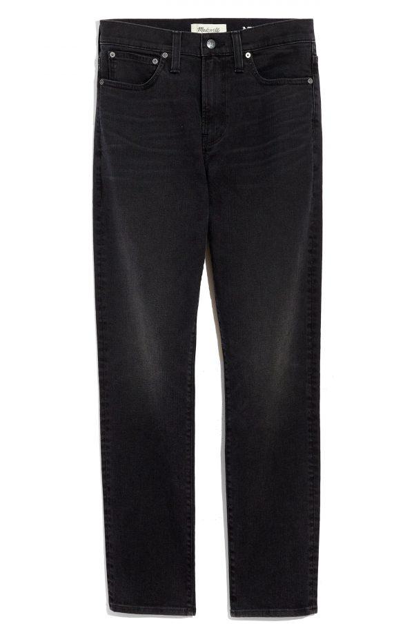 Men's Madewell Athletic Slim Authentic Flex Jeans, Size 29 x 32 - Black