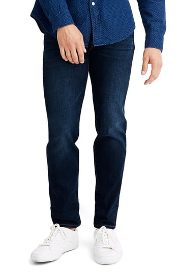 Men's Madewell Athletic Slim Fit Jeans, Size 29 x 32 - Blue