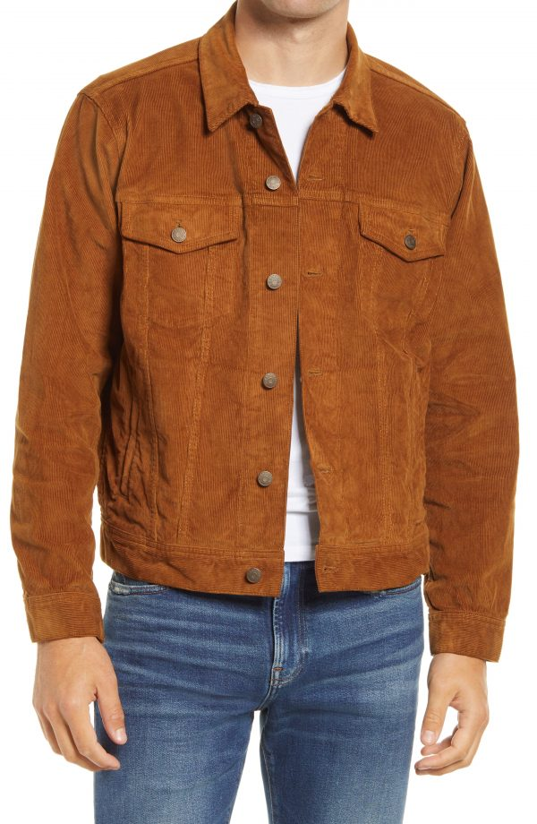 Men's Madewell Classic Jean Jacket Corduroy Edition, Size Large - Beige