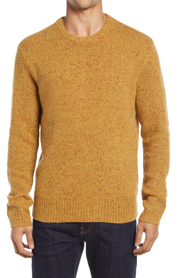 Men's Madewell Crewneck Sweater, Size Small - Brown