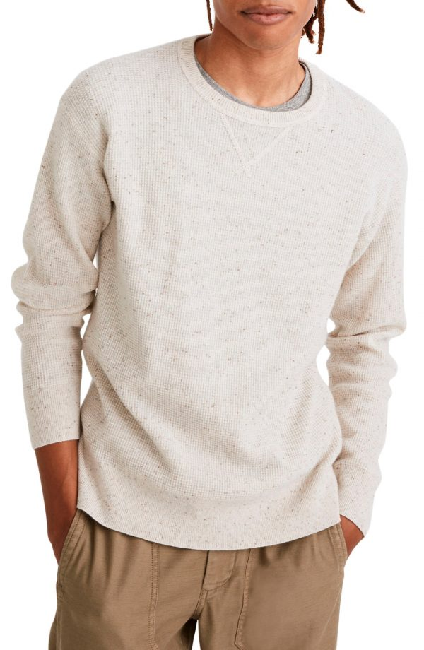 Men's Madewell Donegal Cashmere Sweatshirt, Size Small - White