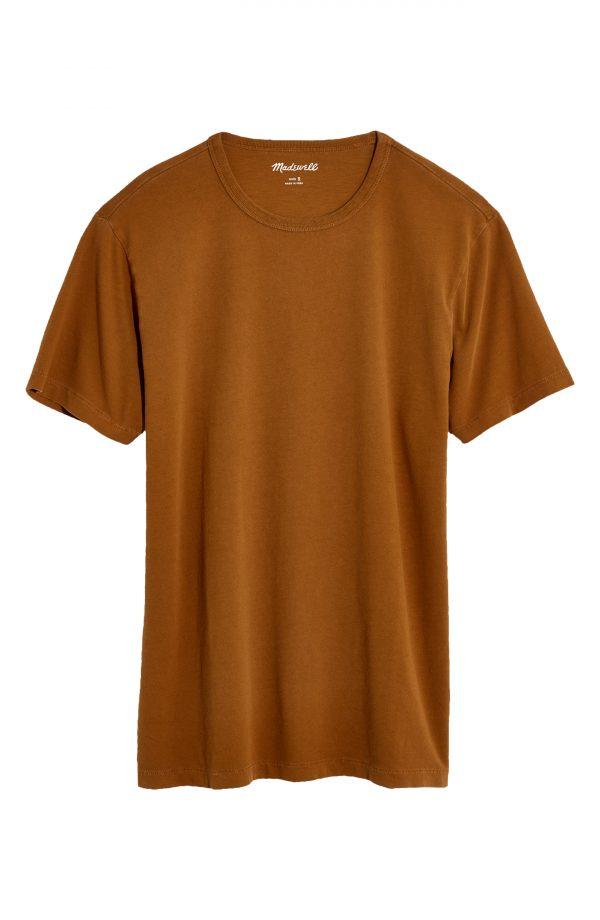 Men's Madewell Garment Dyed Allday Crewneck T-Shirt, Size Small - Brown