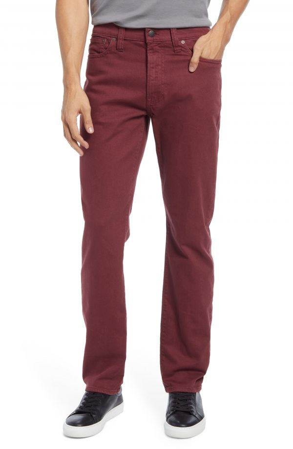 Men's Madewell Garment Dyed Slim Fit Jeans, Size 28 x 32 - Red