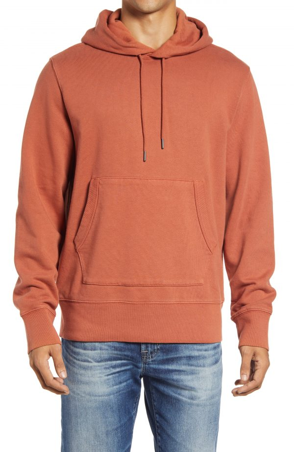 Men's Madewell Hooded Sweatshirt, Size Small - Red