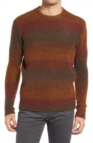 Men's Madewell Key Item Ombre Sweater, Size X-Large - Brown