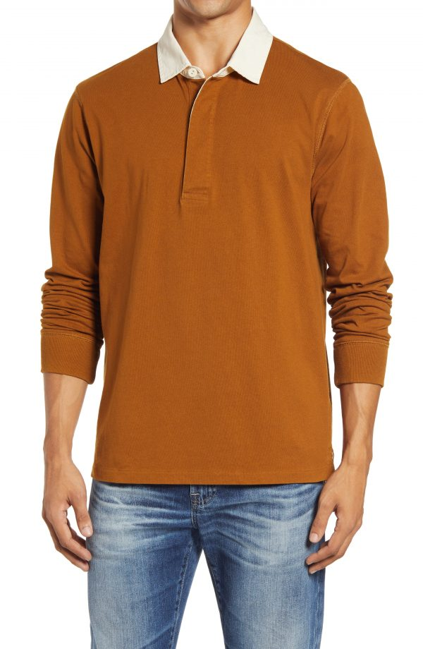 Men's Madewell Rugby Shirt, Size Medium - Brown