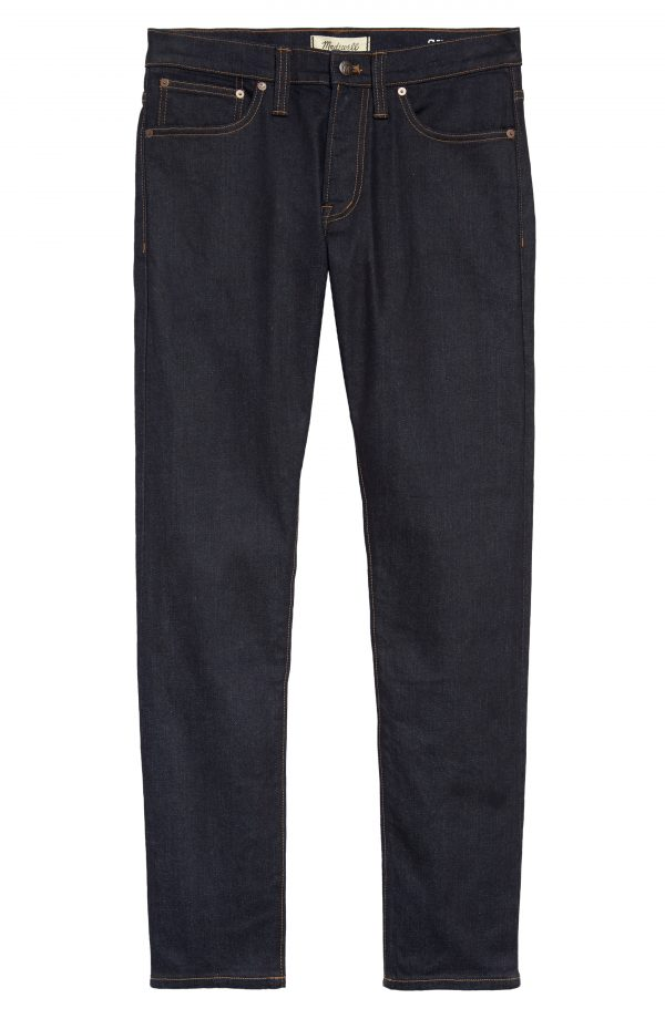 Men's Madewell Skinny Authentic Flex Selvedge Jeans, Size 29 x 32 - Blue
