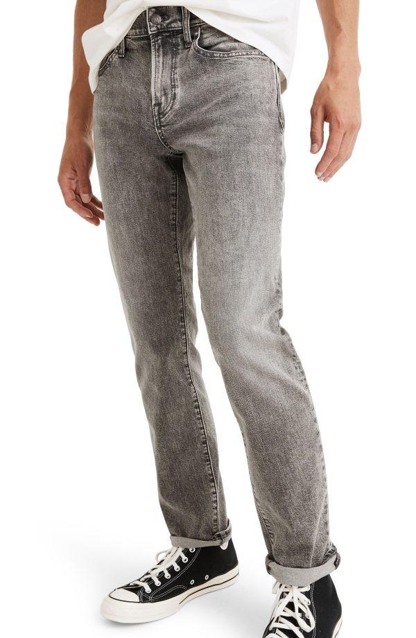 Men's Madewell Slim Authentic Flex Jeans, Size 28 x 32 - Grey