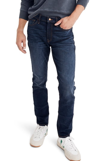 Men's Madewell Slim Fit Jeans, Size 28 x 32 - Blue