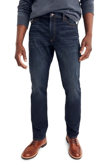 Men's Madewell Slim Straight Fit Jeans, Size 38 x 32 - Blue