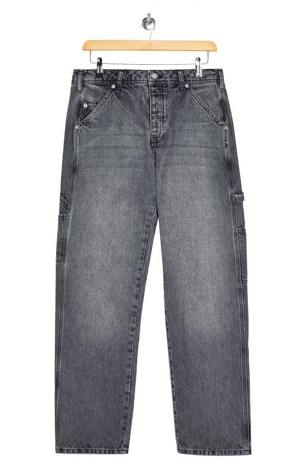 Men's Topman Carpenter Jeans, Size 30 x 32 - Grey