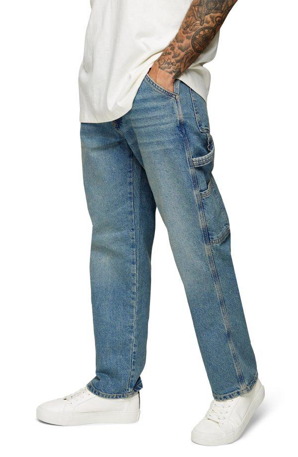 Men's Topman Carpenter Jeans, Size 32 x 32 - Blue