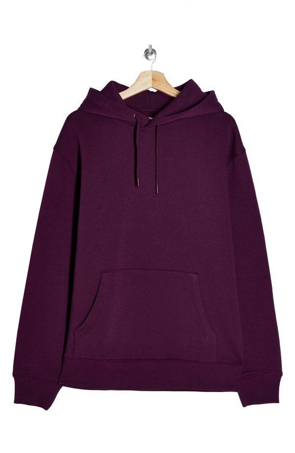 Men's Topman Classic Solid Hoodie, Size Large - Purple