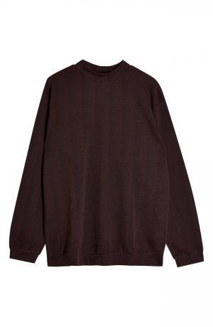 Men's Topman Herringbone Long Sleeve Shirt, Size Large - Burgundy