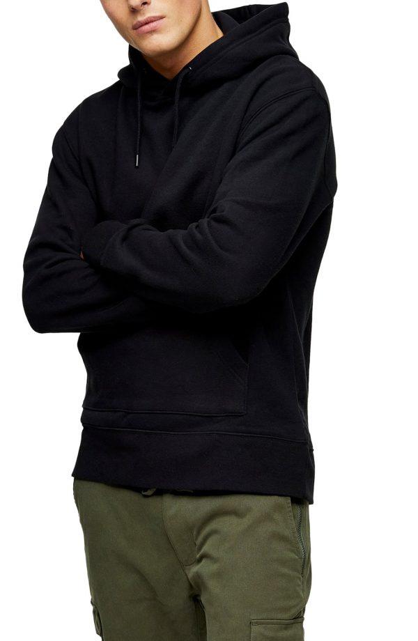 Men's Topman Hoodie, Size Large - Black