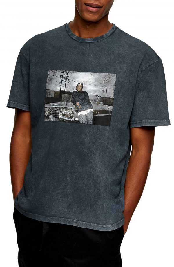 Men's Topman Ice Cube Graphic Tee, Size Large - Black