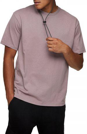 Men's Topman Men's Oversize Solid Crewneck T-Shirt, Size Large - Purple