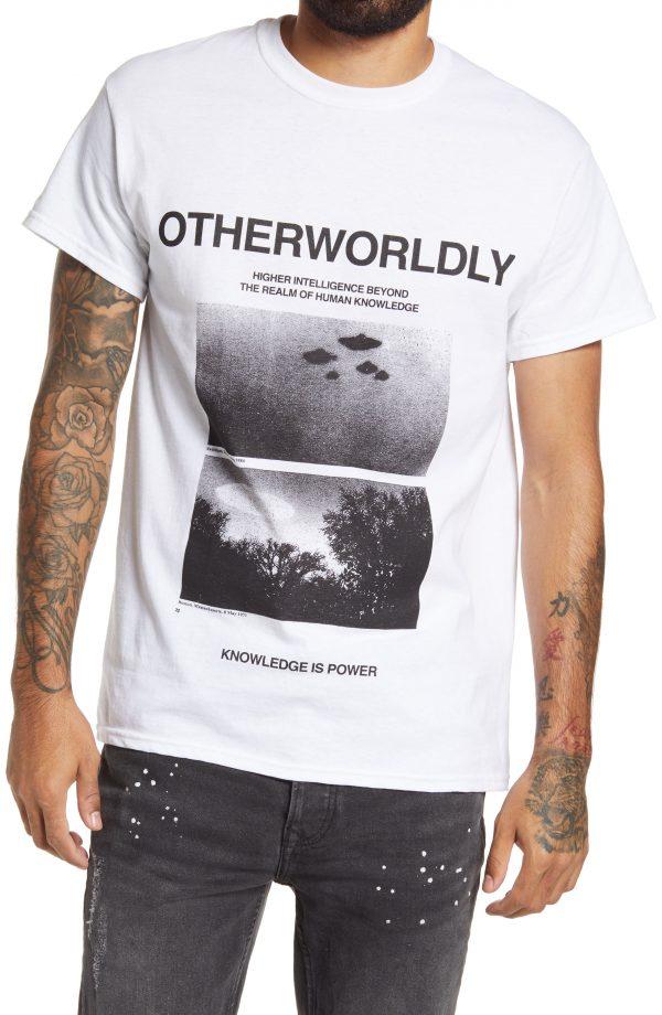Men's Topman Metallica Otherworld Graphic Tee, Size Small - White