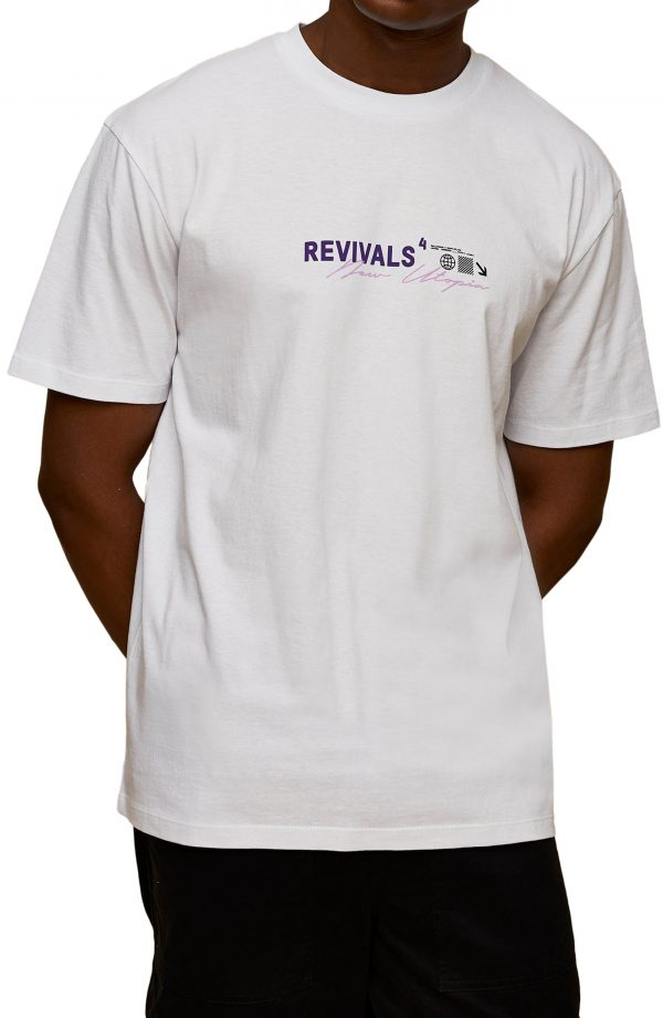 Men's Topman Revivals Graphic Tee, Size Small - White
