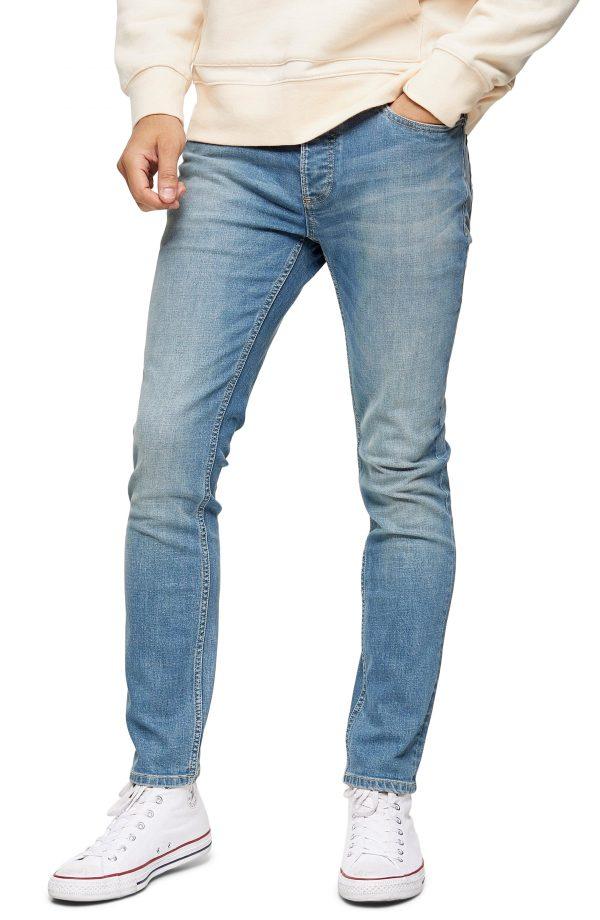 Men's Topman Skinny Fit Jeans, Size 30 x 32 - Blue