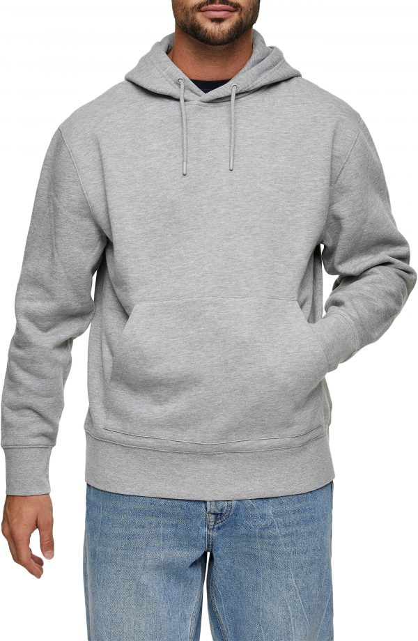 Men's Topman Twill Pullover Hoodie, Size X-Small - Grey