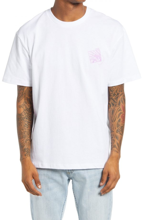 Men's Topman Ultra Waves Graphic Tee, Size Large - White