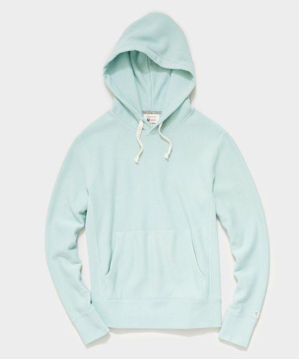 Midweight Popover Hoodie Sweatshirt in Light Pistachio
