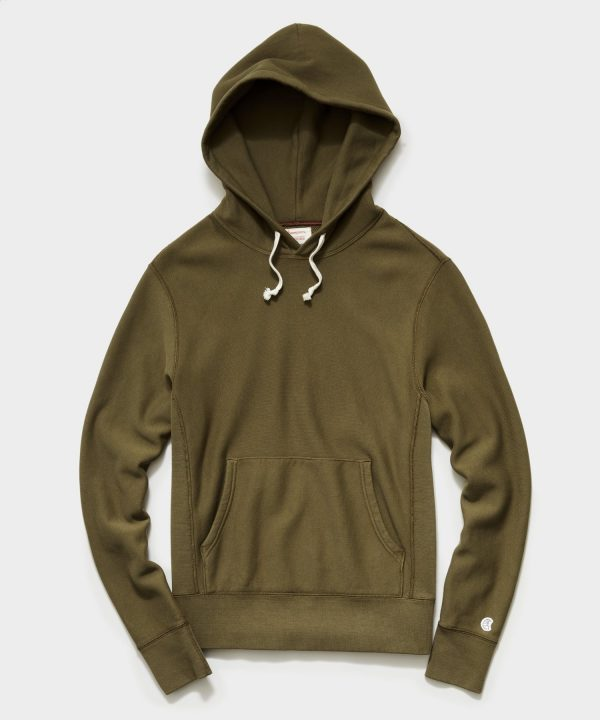 Midweight Popover Hoodie Sweatshirt in Mossy Brown