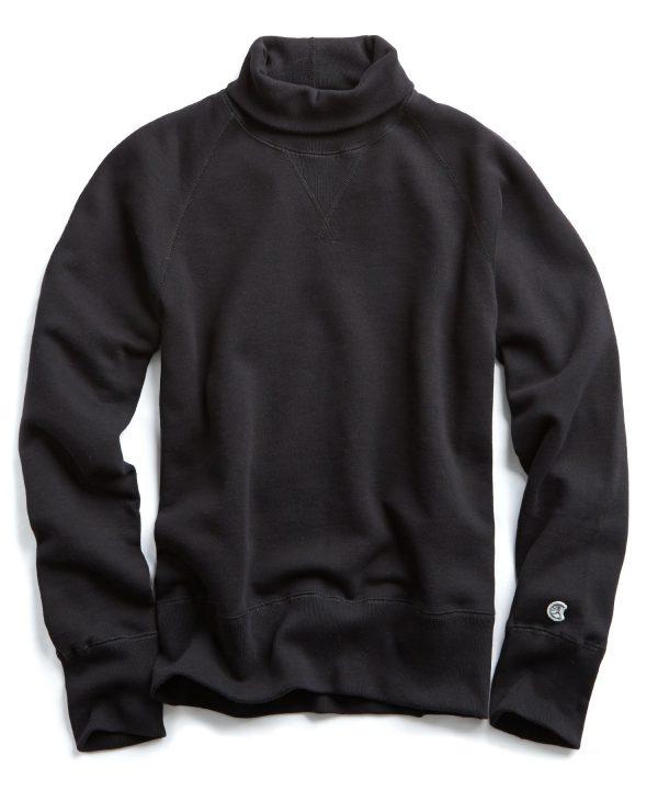 Midweight Turtleneck Sweatshirt in Black
