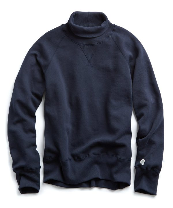 Midweight Turtleneck Sweatshirt in Original Navy