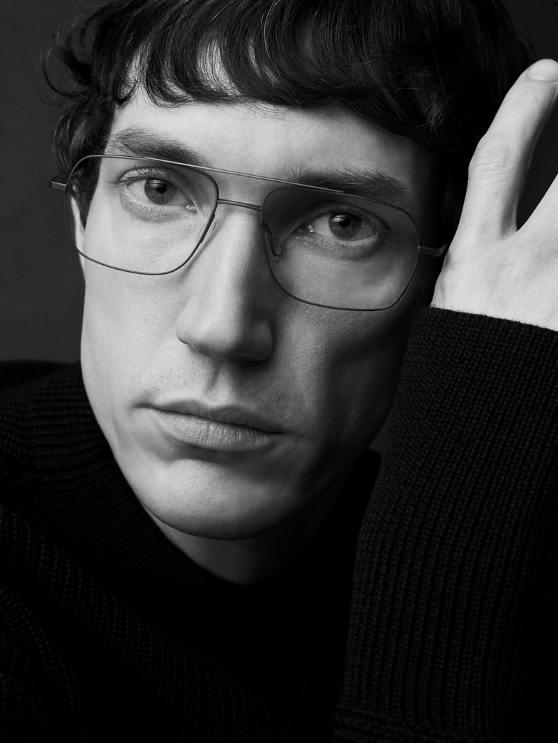 Front and center, Thilo Muller stars in Ørgreen Optics's Imaginary Lines campaign.