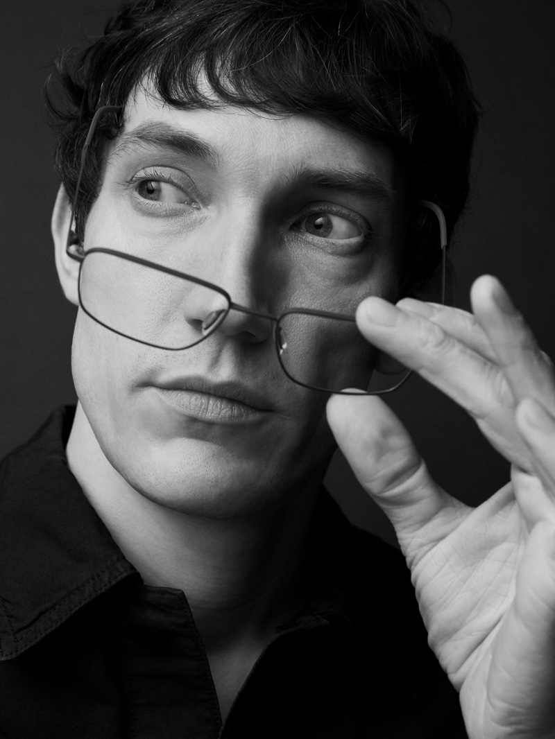 Model Thilo Muller appears in Ørgreen Optics's Imaginary Lines campaign.