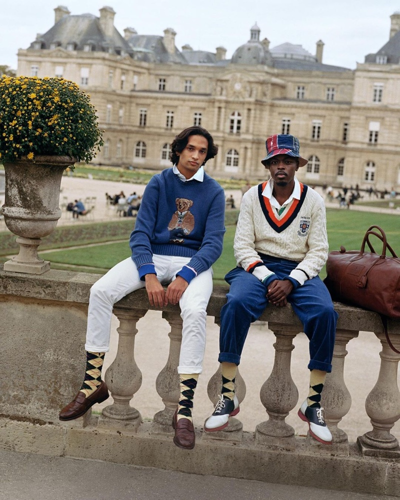 Donning preppy looks from POLO Ralph Lauren, Sanjay Apavou and Kevis Manzi sport pieces from the brand's newest Heritage Icons collection.