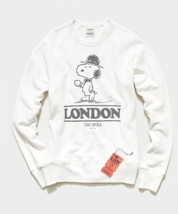 Peanuts City Collection London Crewneck Sweatshirt in Alabaster