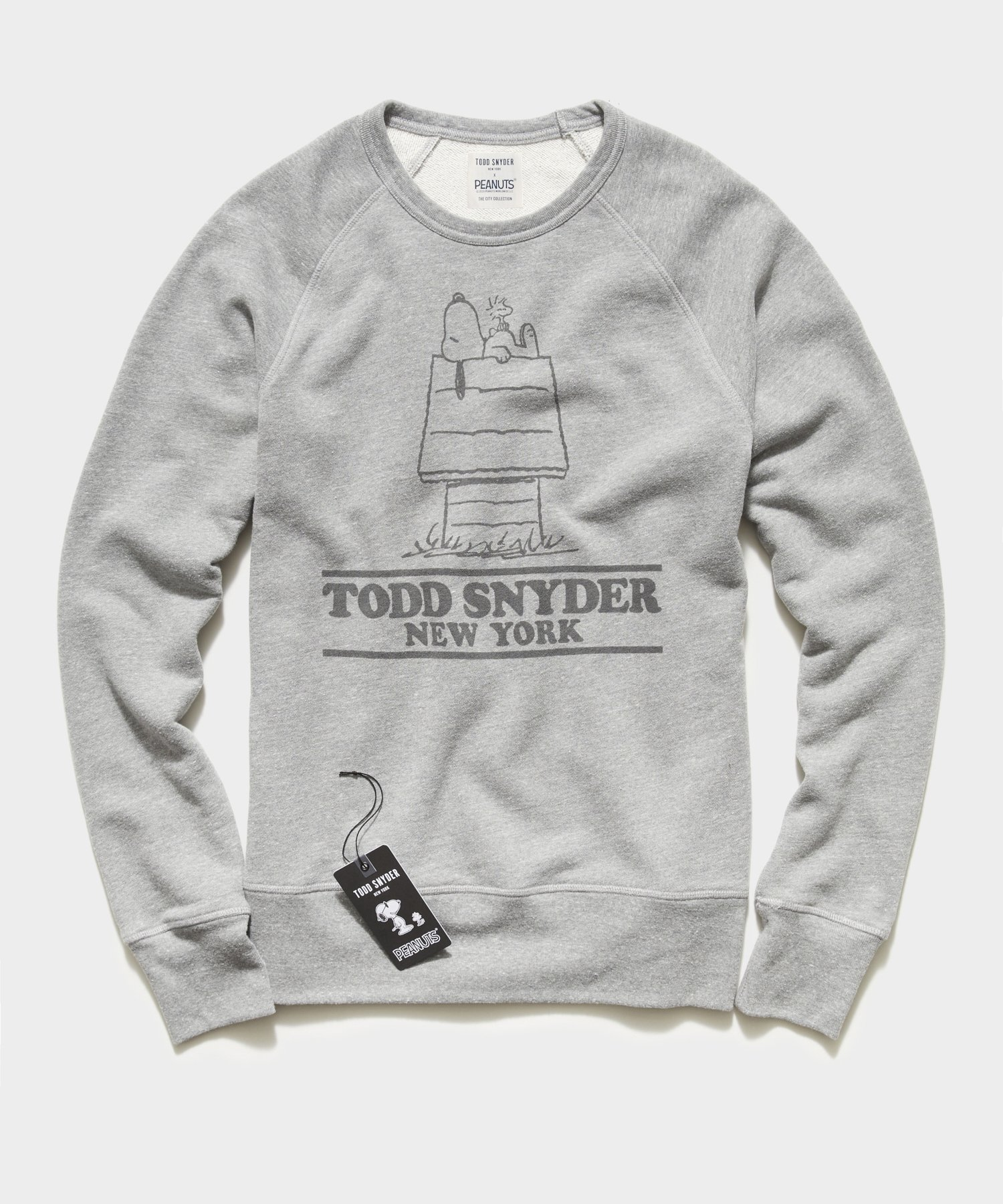 Peanuts City Collection Todd Snyder Crewneck Sweatshirt in Grey Heather