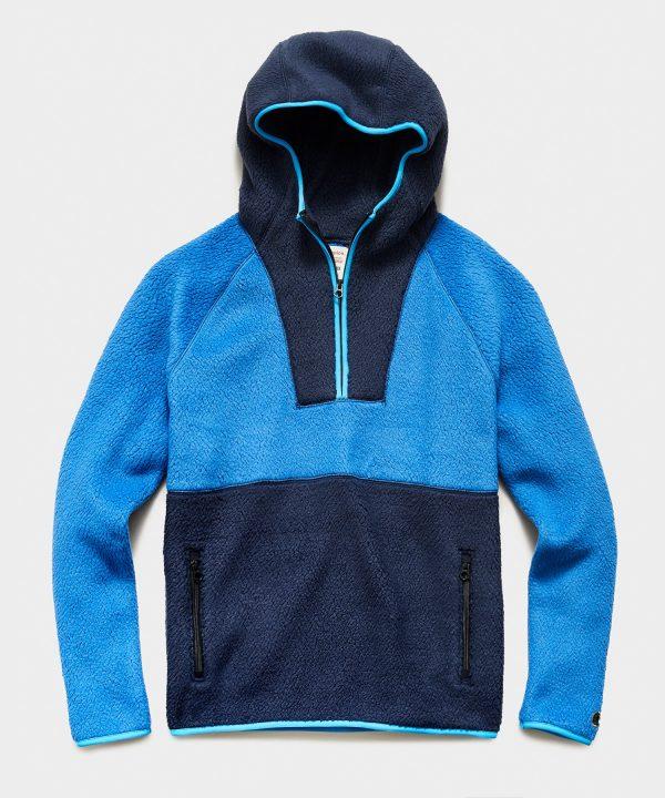Polartec Half Zip Hoodie in Regent Blue