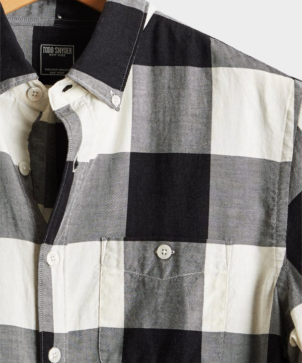 Portuguese Black and White Check Flannel Shirt