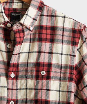 Portuguese Red Plaid Flannel Shirt