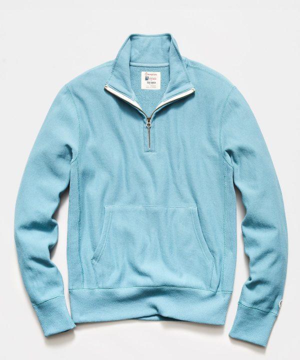 Quarter Zip Sweatshirt in Bluestone