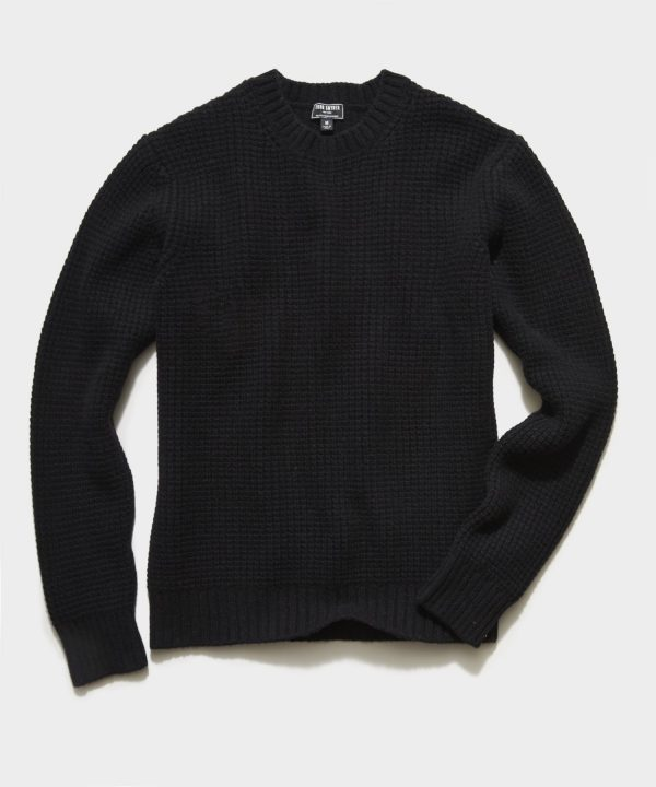 Recycled Cashmere Crew in Black