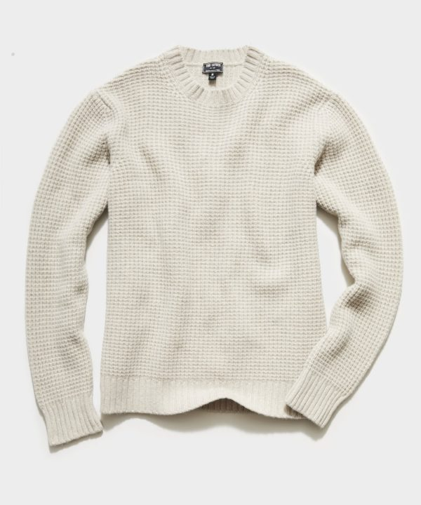 Recycled Cashmere Crew in Oatmeal