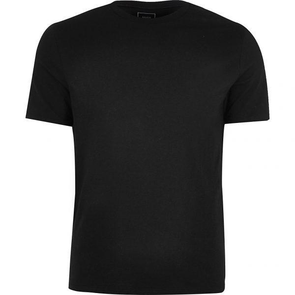 River Island Mens Big & Tall black slim short sleeve t-shirt