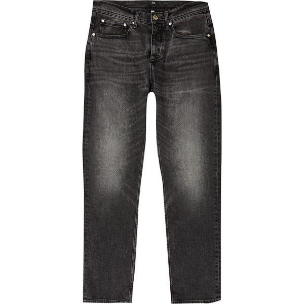 River Island Mens Black Dean straight fit jeans