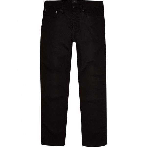 River Island Mens Black Dylan straight fit jeans