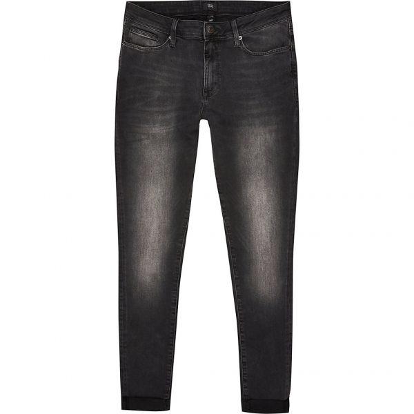 River Island Mens Black Ollie super skinny spray on jeans