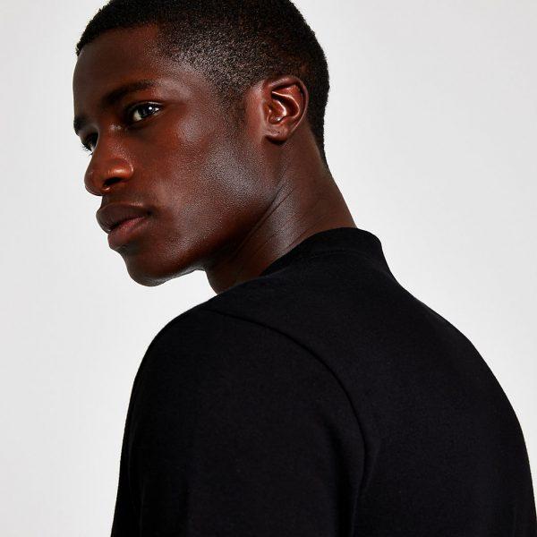 River Island Mens Black premium slim fit t-shirt
