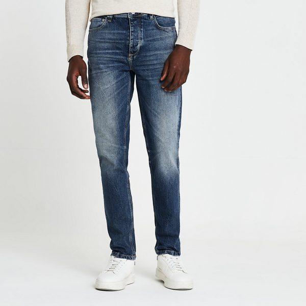 River Island Mens Blue Dylan slim fit jeans