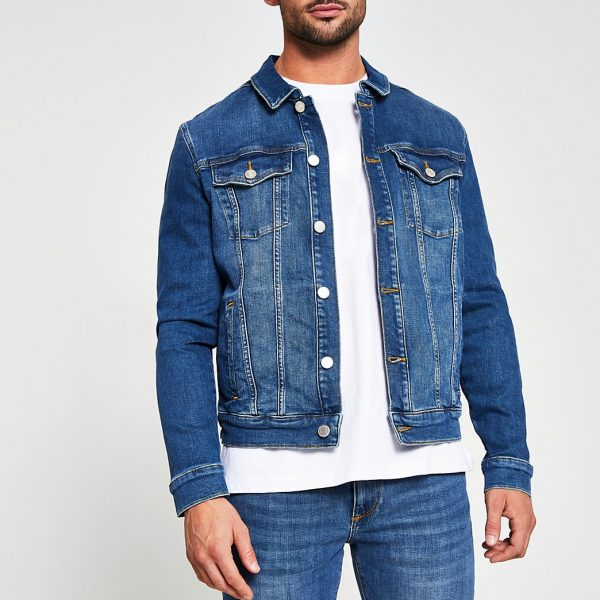 River Island Mens Blue classic denim jacket