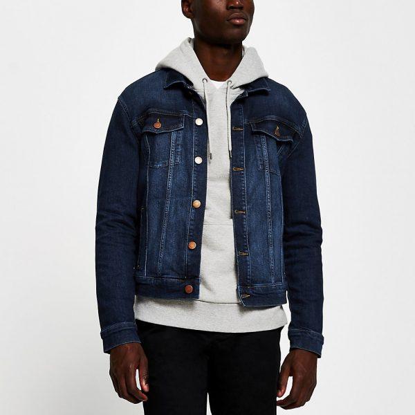 River Island Mens Blue denim jacket